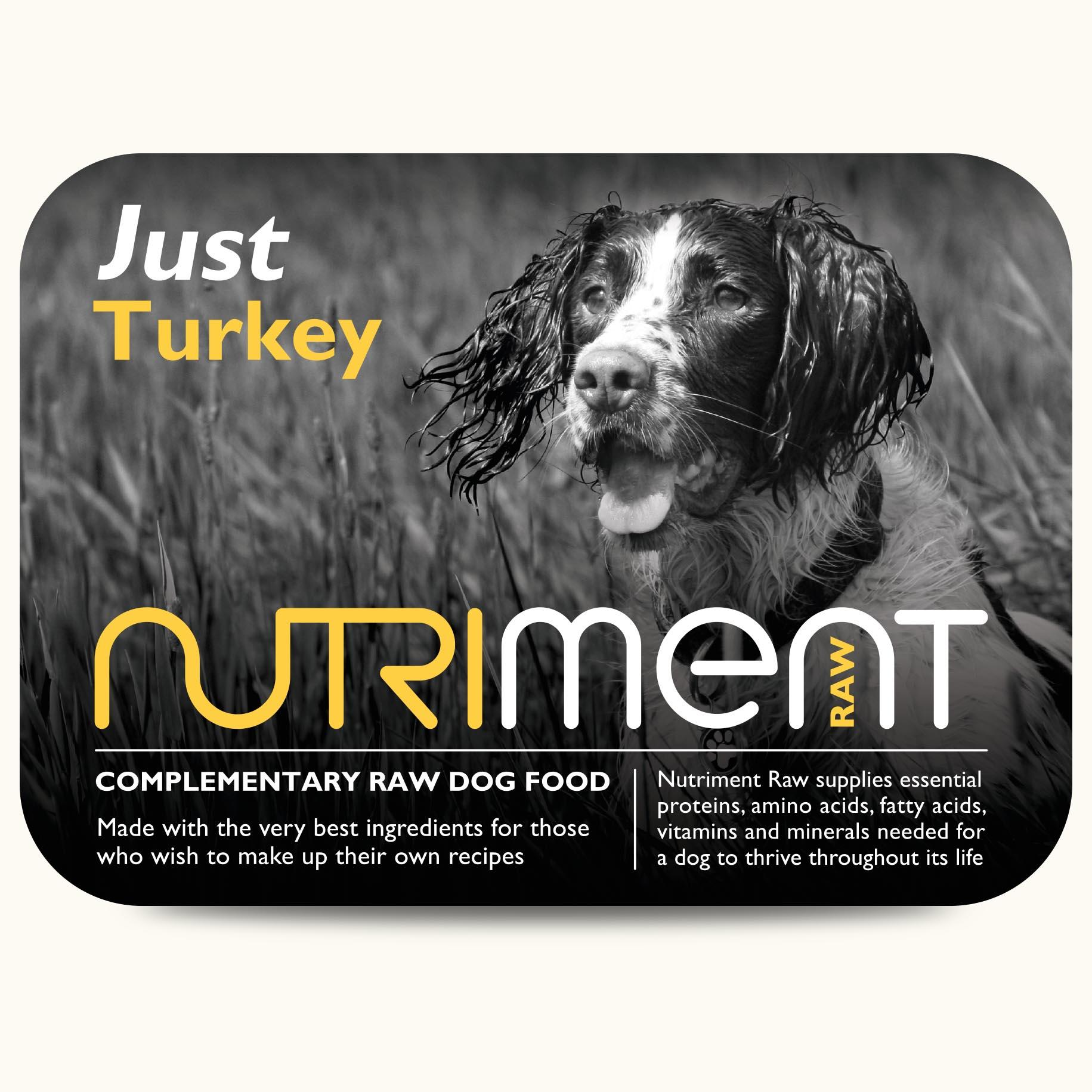 Nutriment Just Turkey 500g - Raw Dog Food Company Norfolk ...