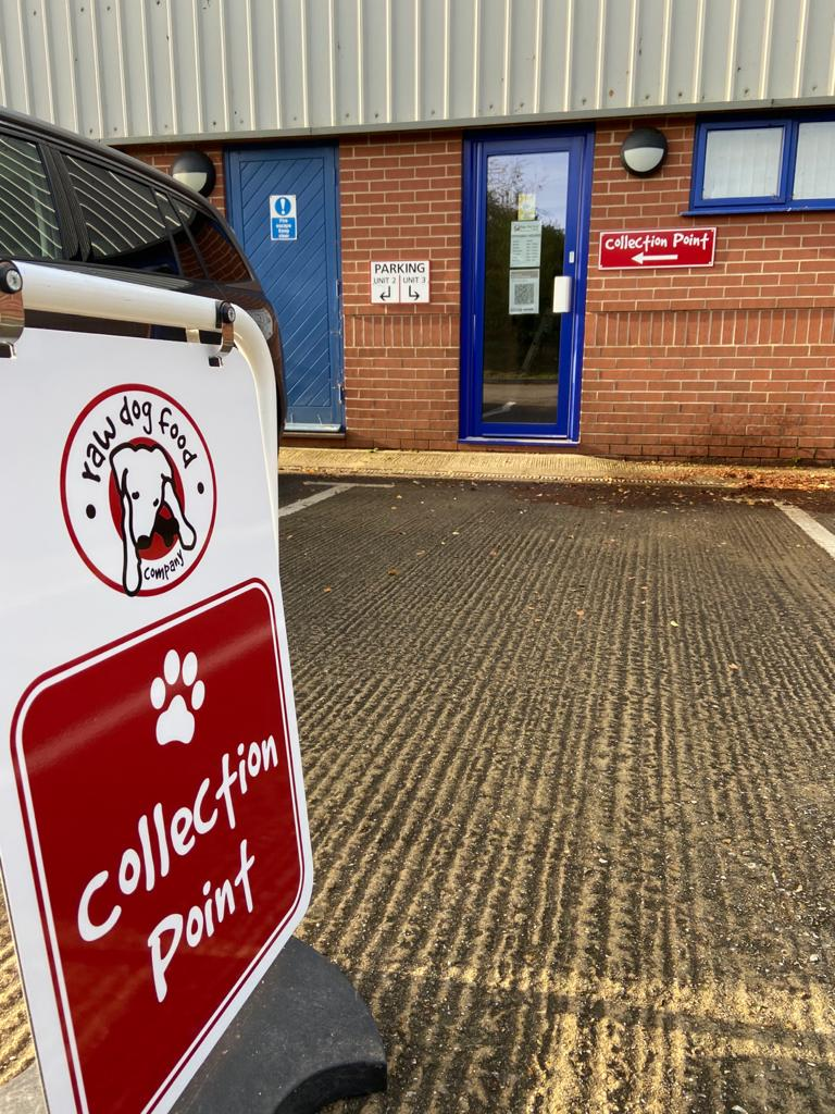 Raw Dog Food Collection Point